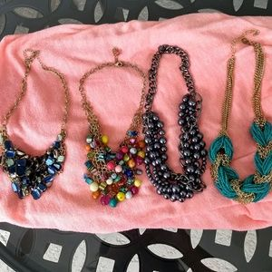 Jewelry - Lot Of 4 Statement Necklaces